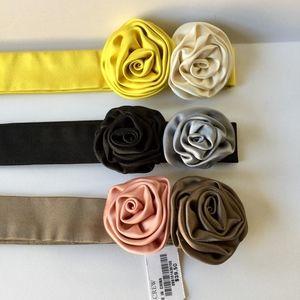 Set/3  J. Crew Silk Rosette Tie Sash Belt